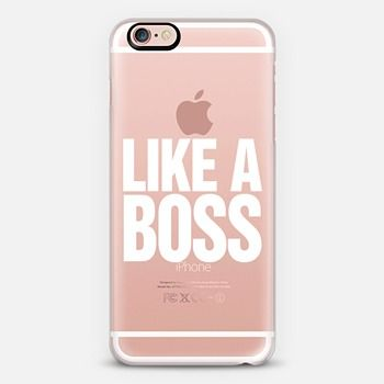Like a Boss White Transparent Typography