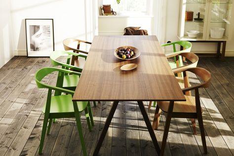 Ikea Table Salle A Manger.Table Ikea Stockhom Plaque Noyer 599 Euros Deco Table