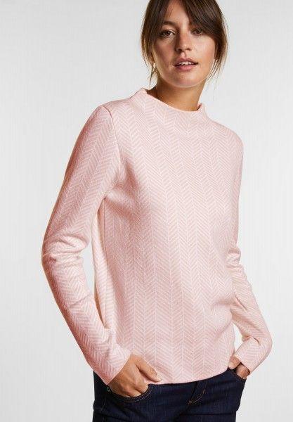 STREET ONE V Ausschnitt Pullover Hellgrau klassisch Pullover