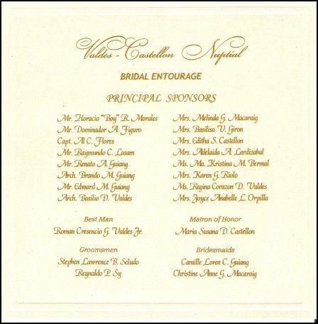 Wedding Invitation Sponsors Wedding Invitation Format Fun Wedding Invitations Wedding Invitation List
