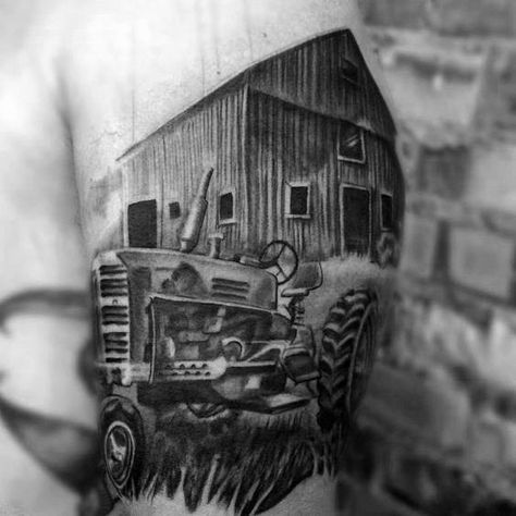 60 Farming Tattoos For Men - Agriculture Design Ideas