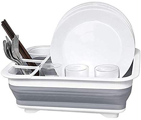 dish drainer collapsible dish rack