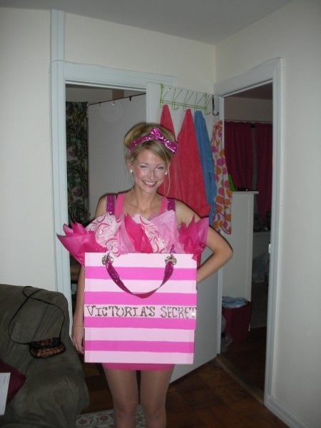 Victoria Secret Shopping Bag Halloween costume so cute:)