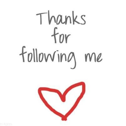 Thanks for following me!