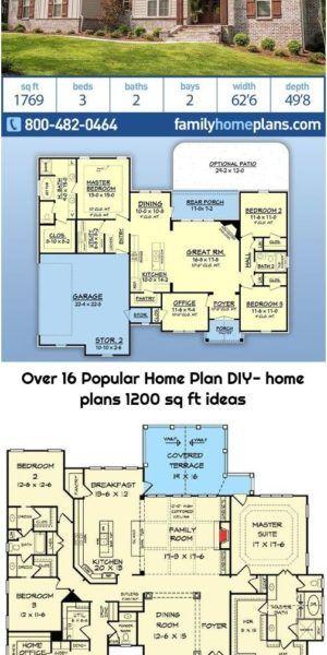Over 16 Popular Home Plan Diy Home Plans 1200 Sq Ft Ideas Diy House Plans House Plans Dream House Plans