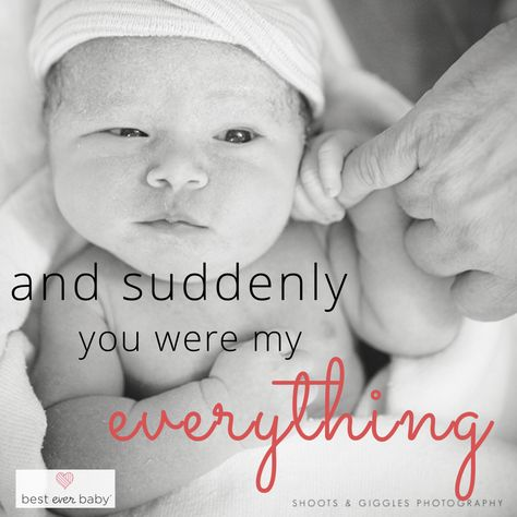 """""""And suddenly he was my everything"""" - Love this quote! Prepare for your birth with a free birthplan and answers to pregnancy and birth question on our blog!"""