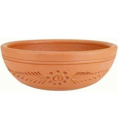15 1 2 In Round Terra Cotta Clay Cactus Dish Terracotta Planter Trellis Home Depot