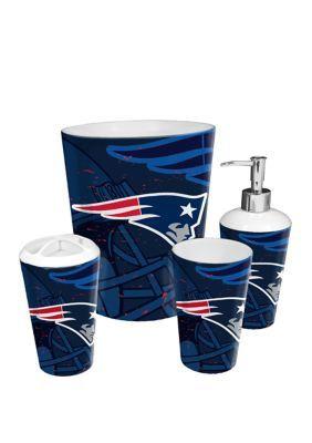 The Northwest Company Nfl New England Patriots 4 Piece Bath Set