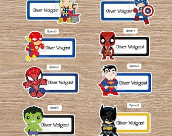 Labels for School Personalized Labels for Kids Boy at School Waterproof Labels for Kids Children/'s Labels