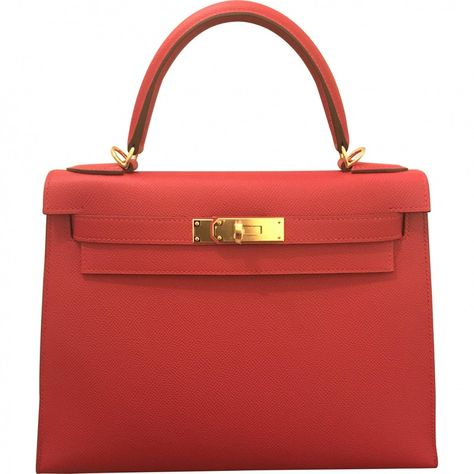 0f141f7590b7 red Plain Leather HERMÈS Handbag - Vestiaire Collective Om man har 160.000  i byrålådan.