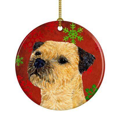 The Holiday Aisle Border Terrier Snowflake Holiday Christmas