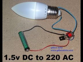 How To Make Aaa 1 5v Battery To 220v Ac Inverter Youtube With