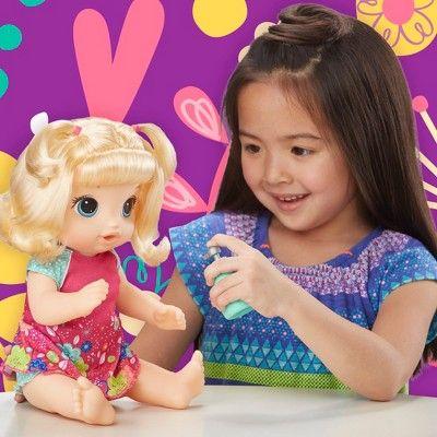 Baby Alive Potty Dance Baby Doll Blonde Straight Hair With Images Baby Alive Baby Blonde Hair Baby Dolls
