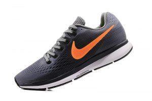 Mens Nike Air Zoom Pegasus 34 FlyEase Wolf Grey Orange 880555 002 Running  Shoes c71a40559925