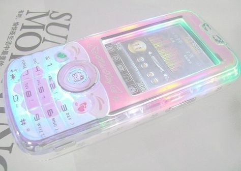 pastel electronics. happy psychedelic phone. so different from a typical one that communicates function and specifications. this communicates mood