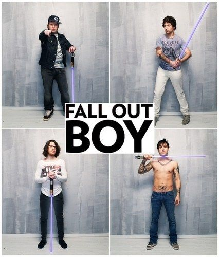 My most favorite band of all time and I especially love them cause they have lightsabers and my future husband Pete Wentz is just godly beautiful. :3