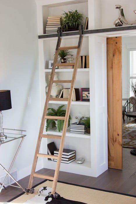 Artisan Rolling Library Ladder Interior Home Decor Decor