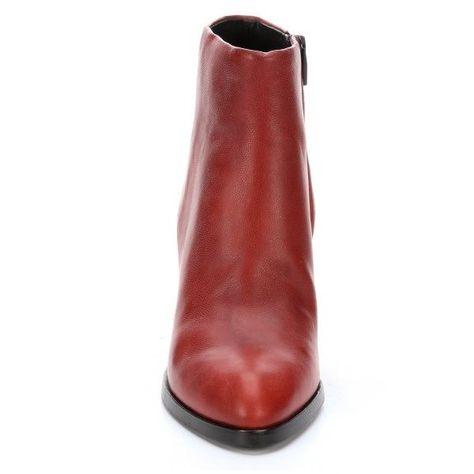 Alexander Blood Orange Leather Gabi Cut Out Heel Side Zip Ankle 445 Liked On Polyvore
