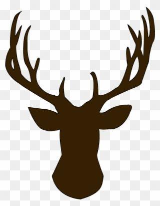 Foot Clipart Reindeer Deer Head Silhouette Png Transparent Png Deer Head Silhouette Deer Art Deer Silhouette
