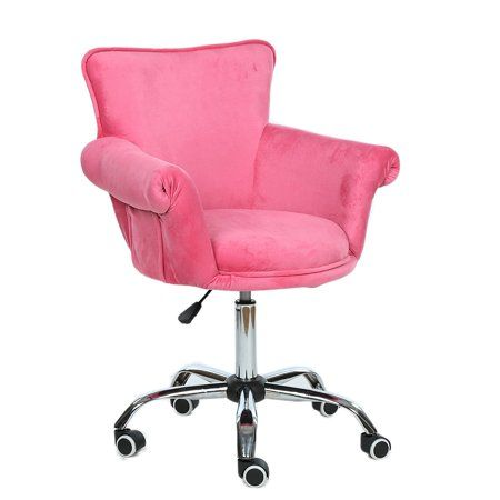 Magshion Deluxe Microfiber Office Desk Chair Bar Stool Beauty Nail Salon Spa Vanity Seat Pink Walmart Com Vanity Seat Office Desk Chair Chair