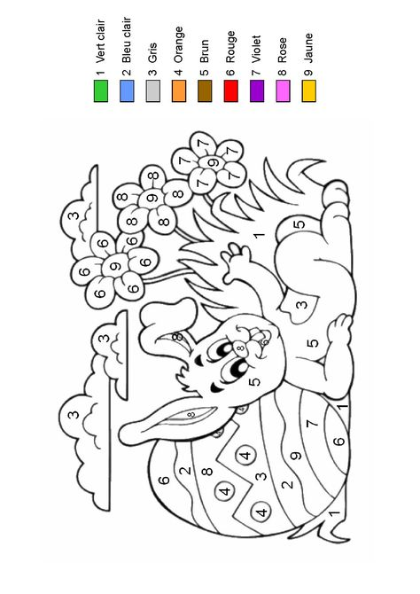 Nicoleu0027s Free Coloring Pages COLOR BY NUMBER * Bunnies * coloring - copy coloring book pages of rabbits