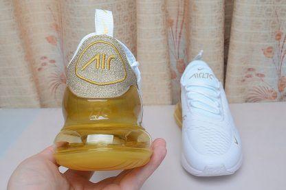 Nike Air Max 270 White Gold Glitter Nike Air Max 270 i  Nike Air Max 270 in
