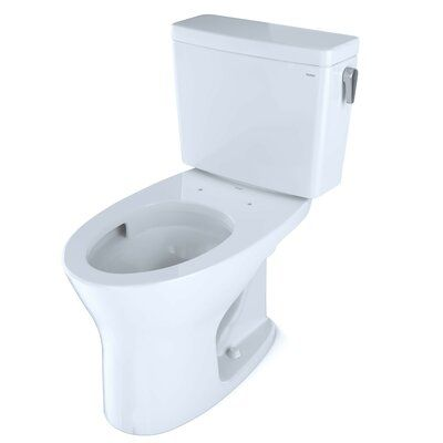 Toto Drake Eco 1 28 Gpf Water Efficient Elongated Two Piece Toilet With High Efficiency Flush Seat Elongated Toilet Seat Clean Toilet Bowl Bidet Toilet Seat