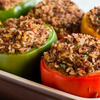 Stuffed Pepper Recipe With Ground Beef And Rice In 2020 Stuffed Peppers Beef And Rice Peppers Recipes