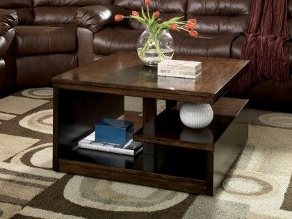 $164, 34 W x 19.5 H Callum Square Cocktail Table at MMFurniture