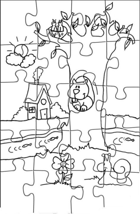 Boyama Sayfalari Puzzle Kelebekler