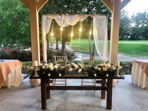 #modernwedding #rusticwedding #woodtable #sweethearttable #tablescape #weddingdecorideas #mrandmrs #backdrop #chiavarichairs #bistrolights #homemade #sweethearttableideas #sweethearttabledecor #rusticwedding #rusticdecorideas #modernweddingideas #njwedding #ronjaworskiweddings #blueheronweddings #golfcoursewedding #weddingreception #receptionvenue #outdoorwedidng #covidwedding #summerwedding #fallwedding #springwedding #weddingflowerideas #weddingflowers