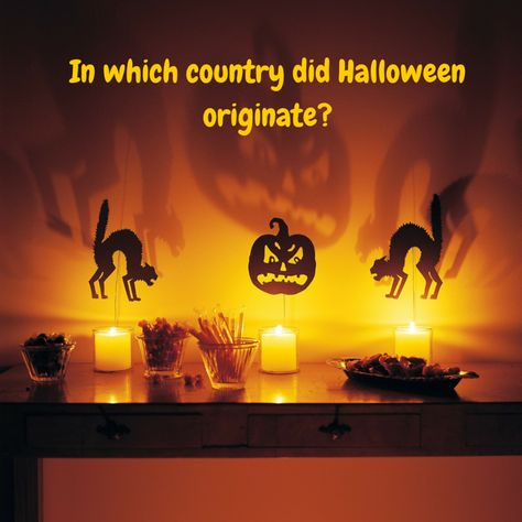 In which country did Halloween originate?   Questions   Pinterest