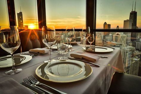 For a special anniversary date -- or really any date -- here are the most romantic restaurants in Chicago.