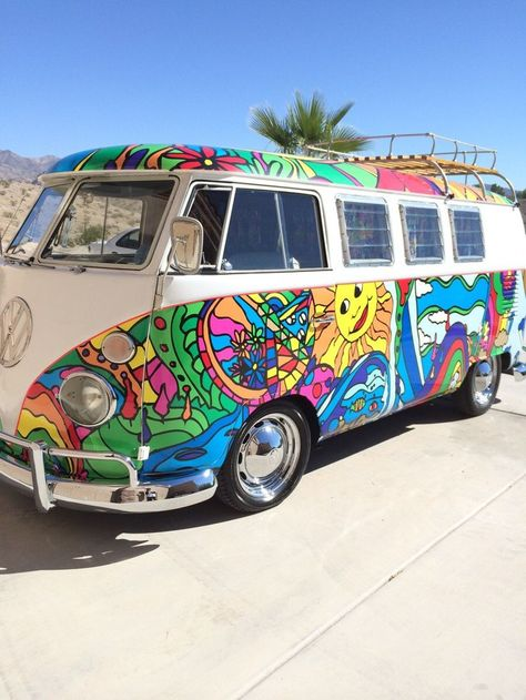 The coolest hippie bus you can get! #hippiebus #hippie #type2 #type2bus #peace #love