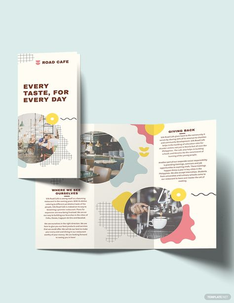 Cafe Tri-Fold Brochure Template [Free Publisher] - Illustrator, InDesign, Word, Apple Pages, PSD | Template.net