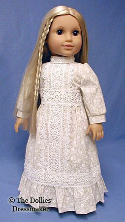 American Girl Doll ~ Julie from Dollies' Dressmaker. Looks like the Gunne Sax dresses we wore in the 70's.