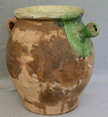 Ancienne Grande Cruche A Eau Provencale En Poterie Terre Cuite Vernissee Cruche Poterie Terre Cuite