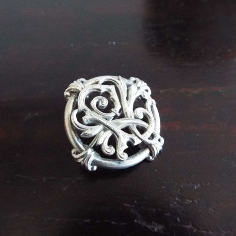 Antique Arts & Crafts 800 Silver Brooch Pin Leaf Vine Brooch | Etsy