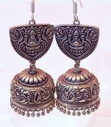 Buy Tribal german silver jhumka earring jhumka online