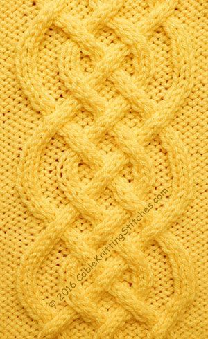 Cable Knitting Stitches » Cable panel 18 » Saxon Braid (Free written instructions)