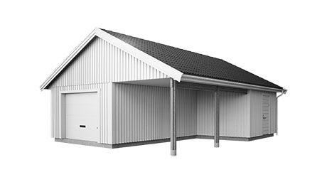 garage med carport