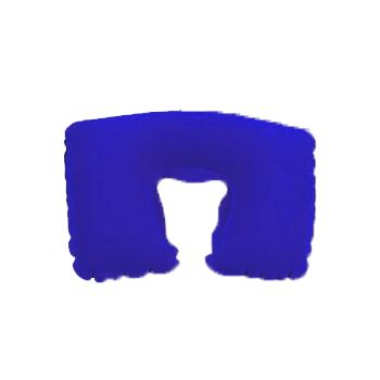 Blue inflatable travel neck pillow