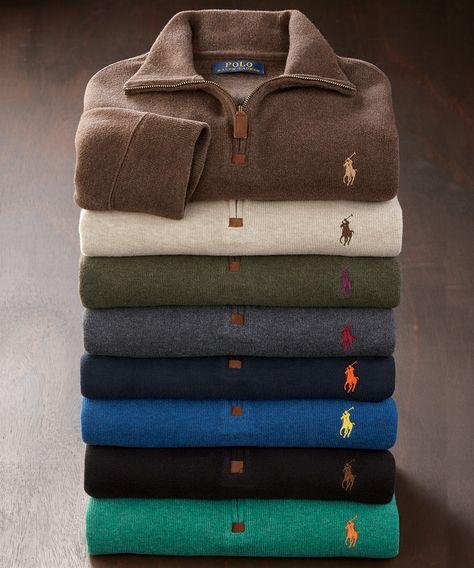 New Ralph Lauren Polo Men/'s French-Rib Half-Zip Pullover XX-Large