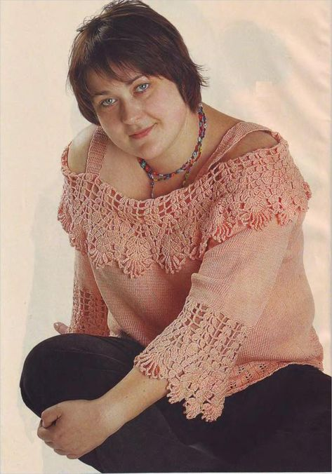 Plus Size Top free crochet pattern - beautiful stitch design
