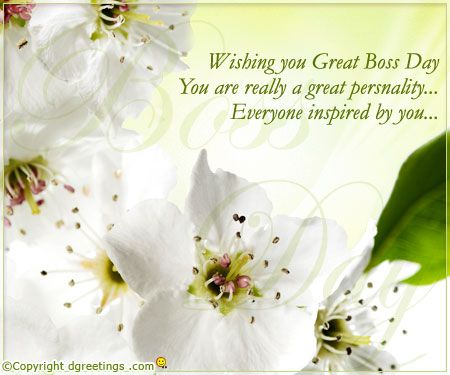 Dgreetings Send warm wish on Boss Day Boss Day – Birthday Card Messages for Boss