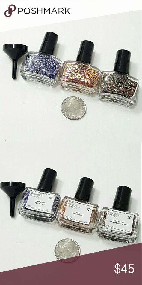 ⤵⤵Ciate London Caviar Pearls & Sequins Nail Decors Brand New 3 Pieces Ciate London. 2 Pieces Nail Caviar Pearls & 1 Piece Sequins Nail Decors from Sephora. Size please check picture #2. Never been use or try. All sales final. Brand New! Guarantee Authentic or your money back. All Sales Final! Please raise question before purchase. Bundle Welcome. Carry twilly scarves, handbags replacement gold chain Italian curb design, purse accessories. Free Gifts for every purchase! Sephora Makeup