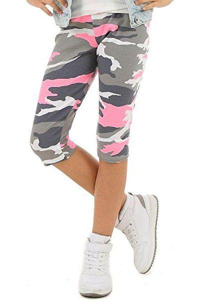 Madchen Leggings 3 4 Capri Hose Camouflage Muster Hk277 116 122 Minze Leggings Kinder Kombinieren Leggi Madchen Leggings Strumpfhosen Outfit Leggings Kinder