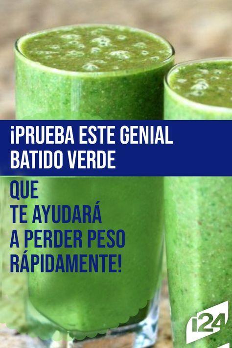El jugo verde te ayuda a bajar de peso