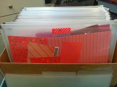 CRAFTY STORAGE: Paper Scrap storage by Ellen Bornstein