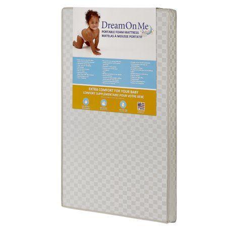 Dream On Me 3 Crib Mattress Portable Portable Crib Crib Mattress